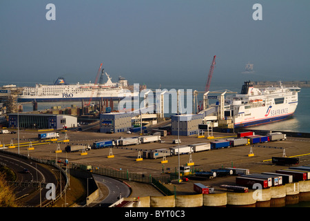 Dover ferry port, Dover, Kent UK - Stock Photo