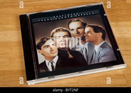 German electronic pop group Kraftwerk CD Trans-Europe Express - Stock Photo
