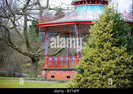 Colourful bandstand in Sefton Park, Liverpool - Stock Photo