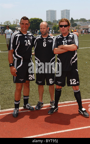 Vinnie Jones and Jason Statham 'Soccer For Survivors' celebrity soccer match presented by the Hollywood United Football - Stock Photo