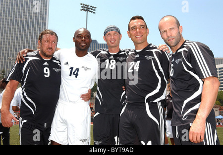 Frank Leboeuf, Vinnie Jones and Jason Statham 'Soccer For Survivors' celebrity soccer match presented by the Hollywood - Stock Photo
