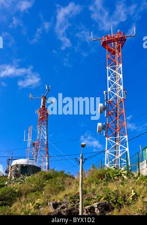 Antenna Masts on Madeira - Stock Photo