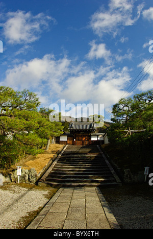 Entrance to Tani-Gosho Reikanji Temple, Nunnery of Nanzenji,  along the Philosopher's Walk, Kyoto, Japan - Stock Photo