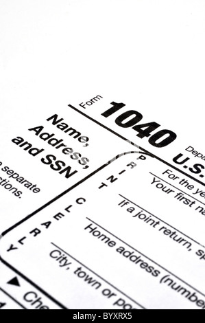Stock Photo Income Tax 1040 Us Individual Tax Return Form And Magnifying Glass 110563058