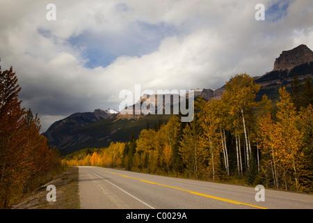 Highway 93, Icefields Parkway through Jasper national Park, Alberta, Canada