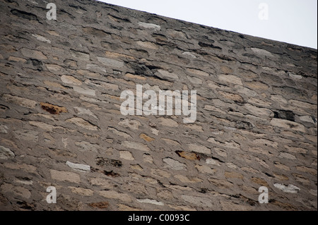 Pa-ris, France, Old Stone Façade Wall, Building, Showing Rain Water damage - Stock Photo