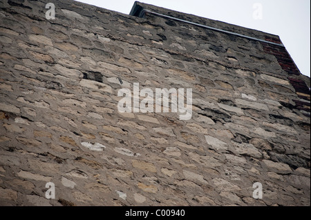 Paris, France, Old Stone Façade Wall, Building, Showing Rainwater damages - Stock Photo