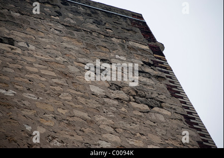 France, Old Stone Façade Wall, Building, Showing Water damages - Stock Photo