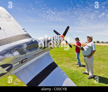 R/C Aircraft Flying in Australia - Stock Photo