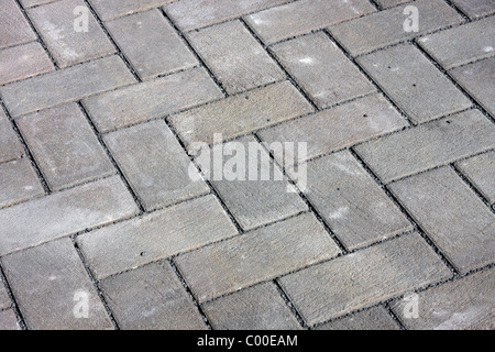 stone pavers laid out in a patio pattern - Stock Photo