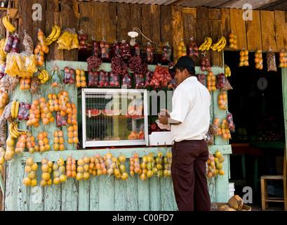 Honduras. Central District. Tegucigalpa. Fruit shop. - Stock Photo