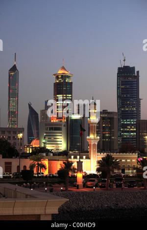 Kuwait, Kuwait City, skyline, skyscrapers, - Stock Photo