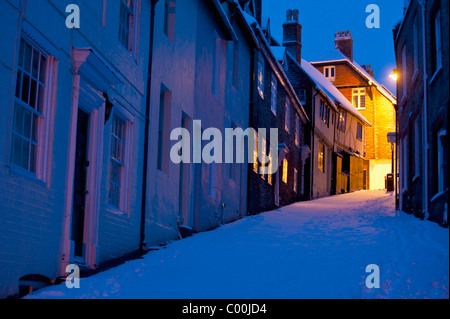 Keere Street in winter before dawn - Stock Photo
