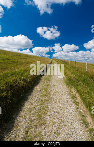 Track through South Downs between Lewes and Brighton - Stock Photo