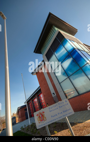 Marshes End Fire Station, Dorset Fire and Rescue Service, Poole exterior - Stock Photo
