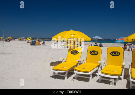 South Africa, Cape Town. Beach at Camps Bay. - Stock Photo