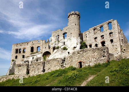 Castle ruins in Ogrodzieniec, Poland, Europe - Stock Photo