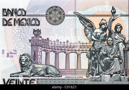 Mexico 20 Twenty Pesos Bank Note. - Stock Photo