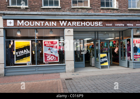 Mountain Warehouse outdoor clothing shop in King's Lynn. - Stock Photo