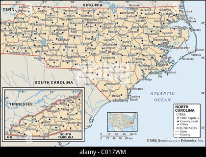 North Carolina State Political Map Stock Photo Royalty Free Image - South carolina political map