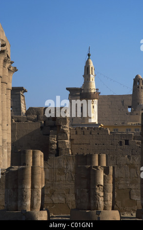 Egypt. Luxor. Mosque of Abu El-Haggag was built inside the temple of Luxor during the Ayyubids sultans. - Stock Photo