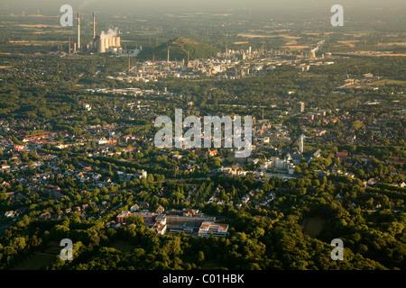 Aerial view, Buer district, Gelsenkirchen, Ruhrgebiet area, North Rhine-Westphalia, Germany, Europe - Stock Photo