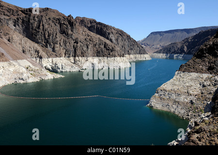 Lake Mead Reservoir at the Hoover Dam, Nevada, USA, North America - Stock Photo
