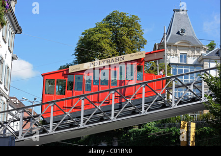 The Polybahn, a funicular railway, Zurich, Switzerland, Europe - Stock Photo