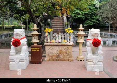 Entrance to the One Pillar Pagoda, Vietnam, Southeast Asia - Stock Photo