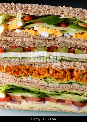 A pile of vegetarian sandwiches - Stock Photo