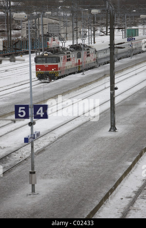 Finnland, Turku, 20110204, railway in turku © Gerhard Leber - Stock Photo