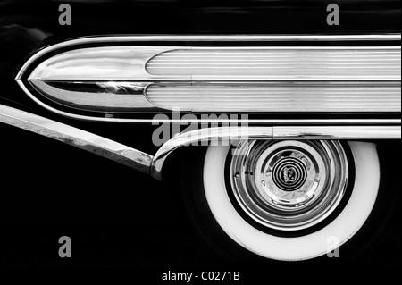 Buick 2 Door Special Convertible Classic American Fifties Car Monochrome