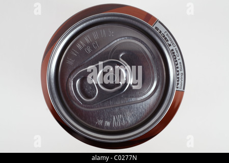 Top of aluminum soda can - Stock Photo