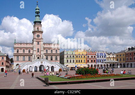 Town Hall in Zamosc, Poland - Stock Photo