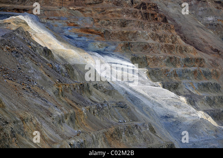 Copper deposits, Bingham Canyon Mine or Kennecott Copper Mine, largest man-made open pit on earth, Oquirrh Mountains - Stock Photo