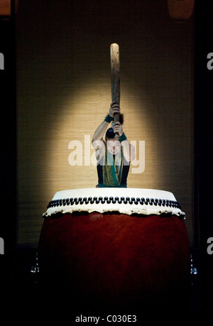 Yamato - The Drummers of Japan performing the program Matsuri, concert in the Circus Krone building, Munich, Bavaria - Stock Photo