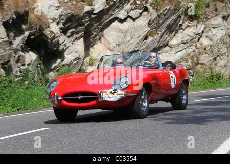 Vintage Car Rally ADAC Mittelrhein Classic 2010 Jaguar E Type Convertible Weinaehr