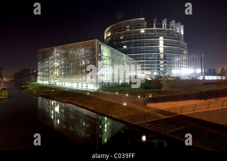 European Parliament, Strasbourg, Alsace, France, Europe - Stock Photo
