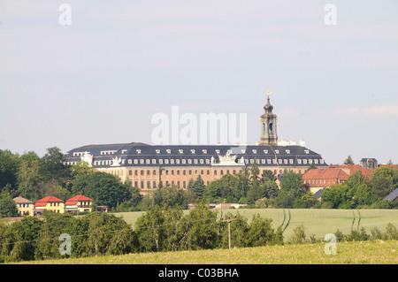 Hubertusburg palace, Wermsdorf, Landkreis Nordsachsen district, Saxony, Germany, Europe - Stock Photo