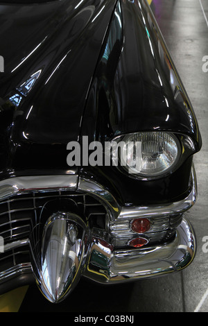Headlight and fender of a vintage Cadillac, ErfinderZeiten car and clock museum in Schramberg, Black Forest, Baden - Stock Photo