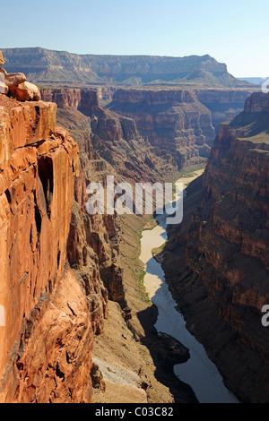 Toroweap Point, Grand Canyon North Rim, Colorado River, Arizona, USA - Stock Photo