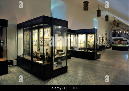 Castle museum exhibition space, Hermann Fortress, Castle of the Order of the Teutonic Knights, Narva, Estonia, Baltic - Stock Photo