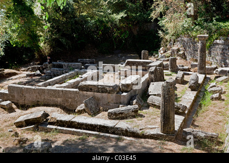 Kardaki Temple in the park of Mon Repos Palace, Analipsi Peninsula, town of Corfu, also Kerkira or Kerkyra, Corfu - Stock Photo