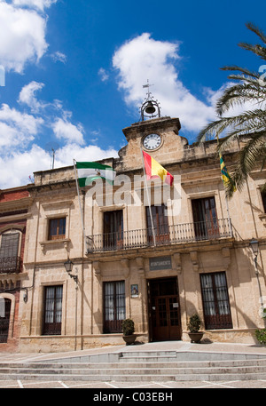 The town hall in the small town Bornos, Andalusia, Spain, Europe