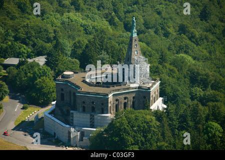 Wasserkaskaden Kassel aerial view octagon building with hercules statue and cascades