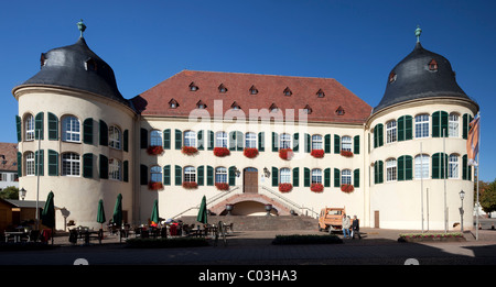 Castle, Bad Bergzabern, Southern Wine Route, Rhineland-Palatinate, Germany, Europe - Stock Photo