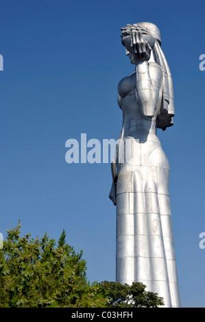 Monument to Kartlis Deda or the Mother of Kartli, Tbilisi, Georgia, Western Asia - Stock Photo