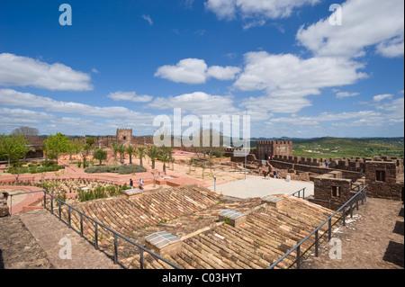 Silves Moorish Castle, Silves, Algarve, Portugal, Europa - Stock Photo