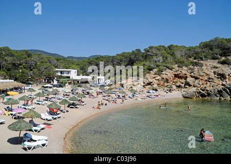 Cala Carbo, beach, Sant Josep de sa Talaia, San Jose, Ibiza, Pityuses, Balearic Island, Spain, Europe - Stock Photo