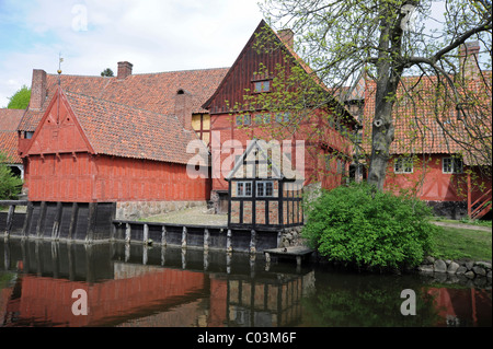 Open-air museum, the Old Town or Den Gamle By, Århus or Aarhus, Jutland, Denmark, Europe - Stock Photo